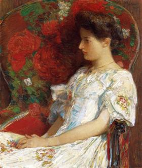 Childe Hassam The Victorian Chair 1906 WikiMedia