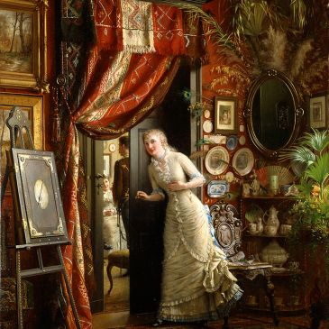 Victorian woman Eavesdropping Knut_Ekwall-Frieriet