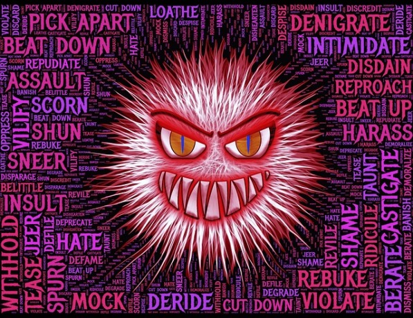 aggression Hate words graphic John Hain Pixabay