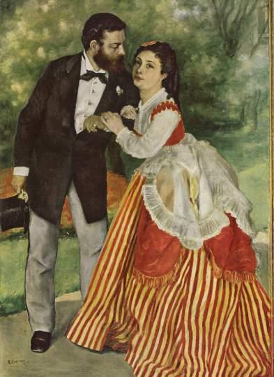 Alfred Sisley and Wife Pierre Auguste Renoir 1868 Wikipedia