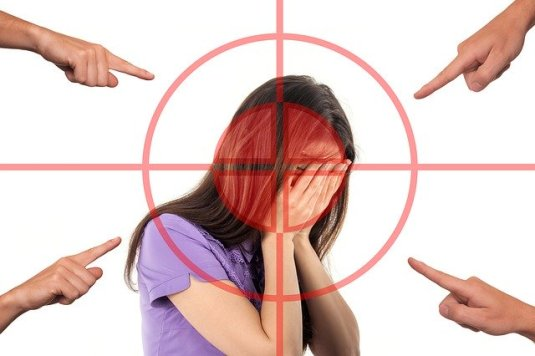 bullying Finger Pointing Woman covering face target Gerd Altmann Pixabay