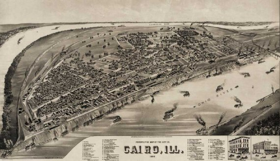 Cairo Illinois panoramic map 1885 H Willbe Wikipedia