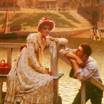 Courtship Edmund Leighton Wikipedia