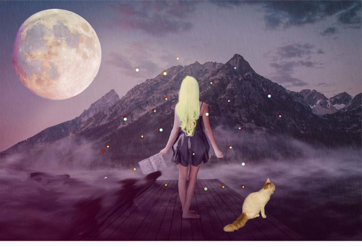Composite of altered free images by Teagan Geneviene