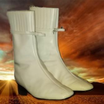 White Gogo Boots Teagan R Geneviene