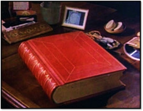Jung's Red Notebook displayed on his desk. Wikipedia