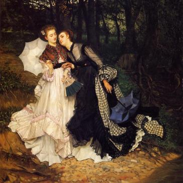 James Tissot, The Confidence 1867, Wikimedia Commons