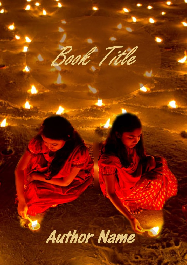 Group II. Two Girls, Diwali, Candles, India