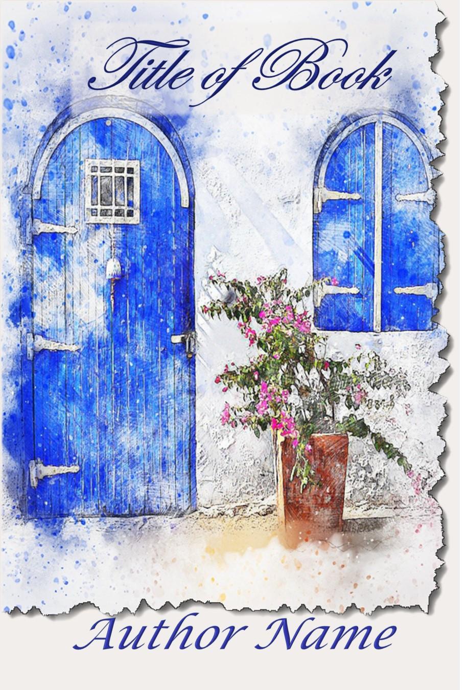 Group II. Blue Door Shutters Watercolor
