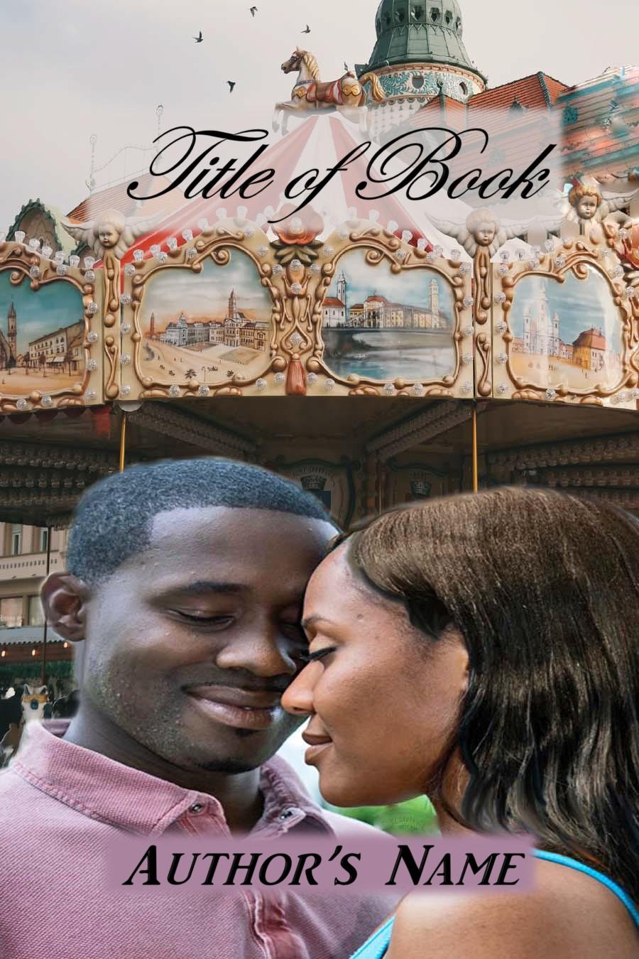 Couple black Carousel Romance