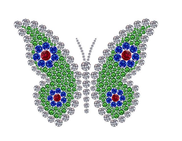 Gemstones butterfly no bkgnd Frauke Riether Pixabay