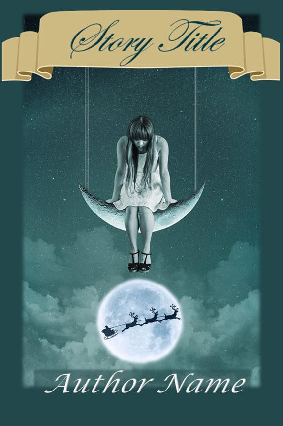 Group I. Girl, Moon, Santa's Sleigh, Silver, Holiday