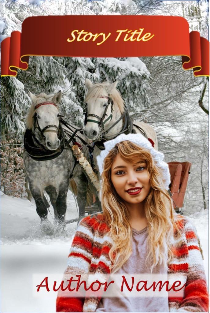 Group I. Holiday, Girl, Horses, Sleigh