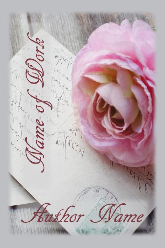 Group II. Postcard, Pink Rose, Flower