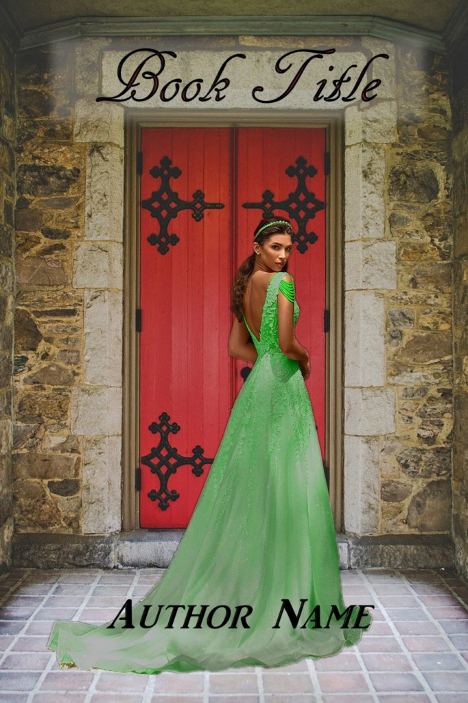 Group I. Red Door Woman Green Gown