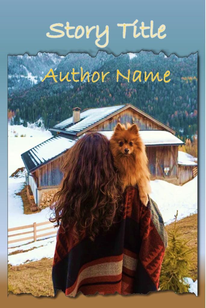 Group I. Girl, Winter, Dog, Mountains, Rural, Snow