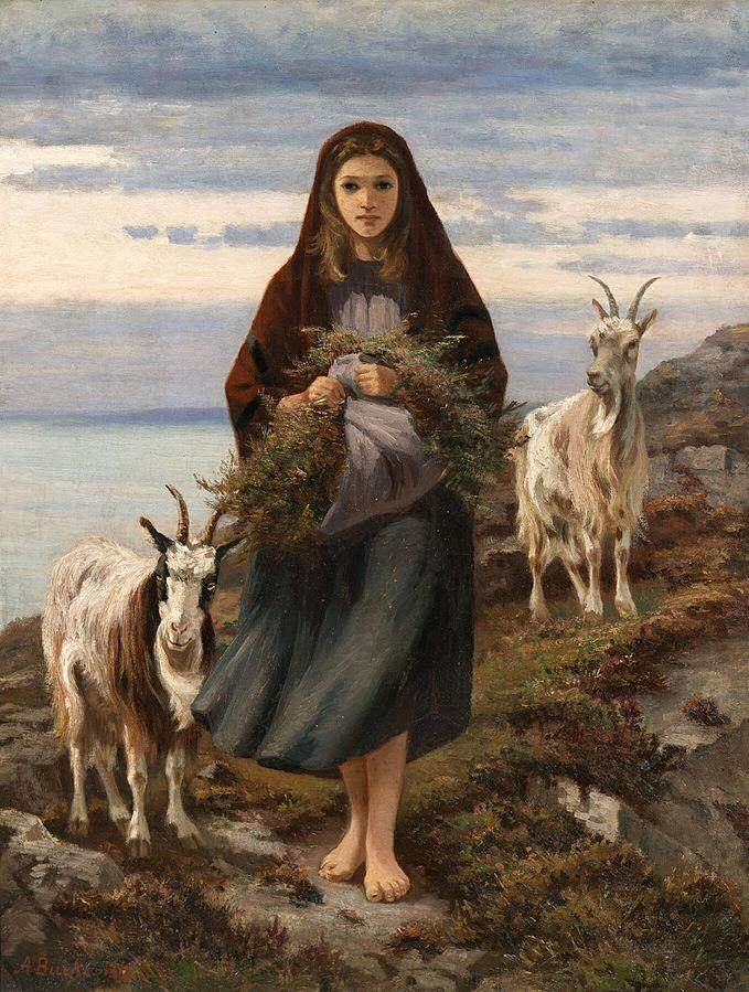 Connemara Girl goats Augustus Nicholas Burke 1838-1891 Wikipedia