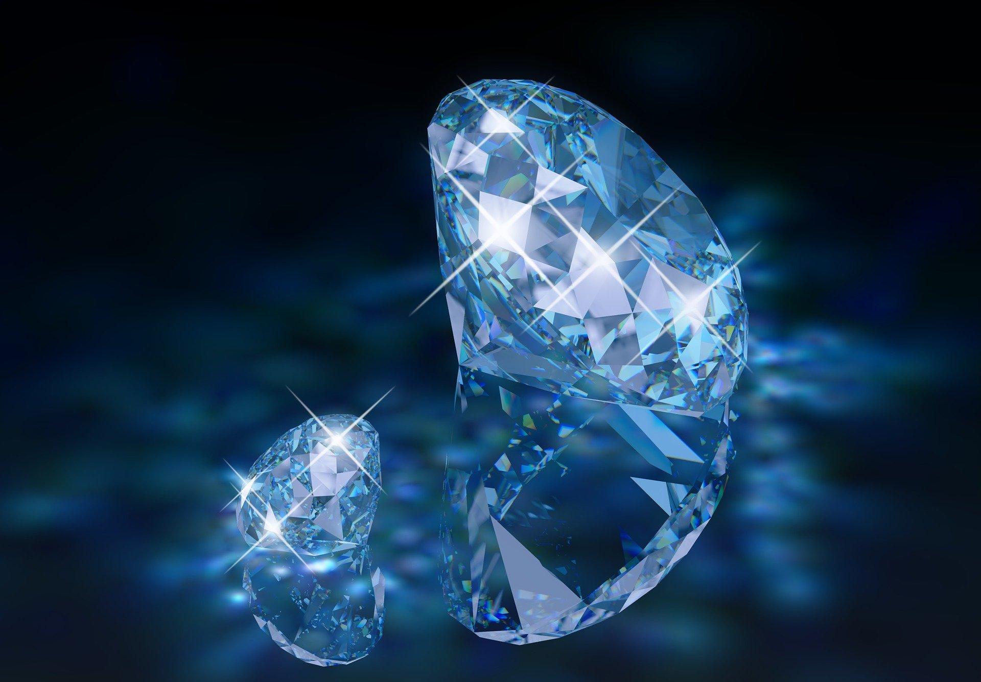 Blue faceted gems Pixabay