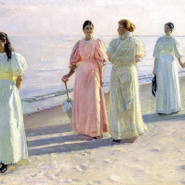 A Stroll on the Beach, Michael Ancher 1896 Wikipedia