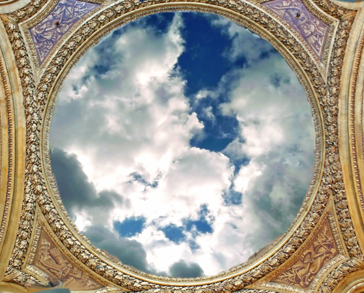 Airship porthole to clouds