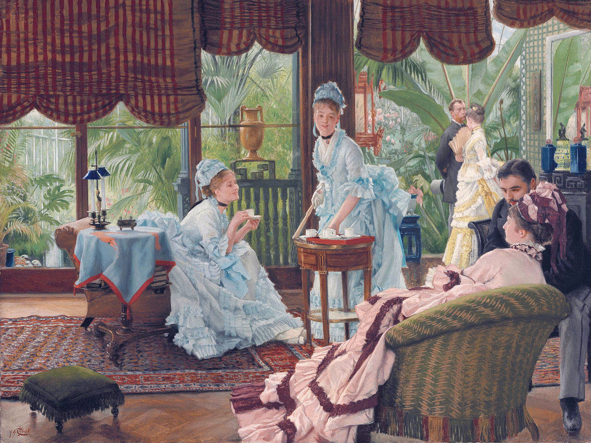 In the conservatory James Tissot Wikimedia