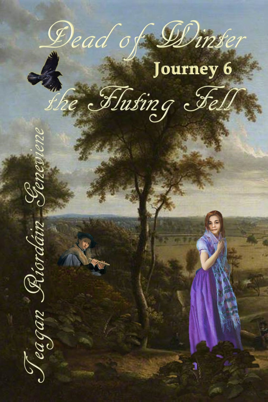 Dead of Winter: Journey 6, The Fluting Fell b cover and book y Teagan Riordain Geneviene