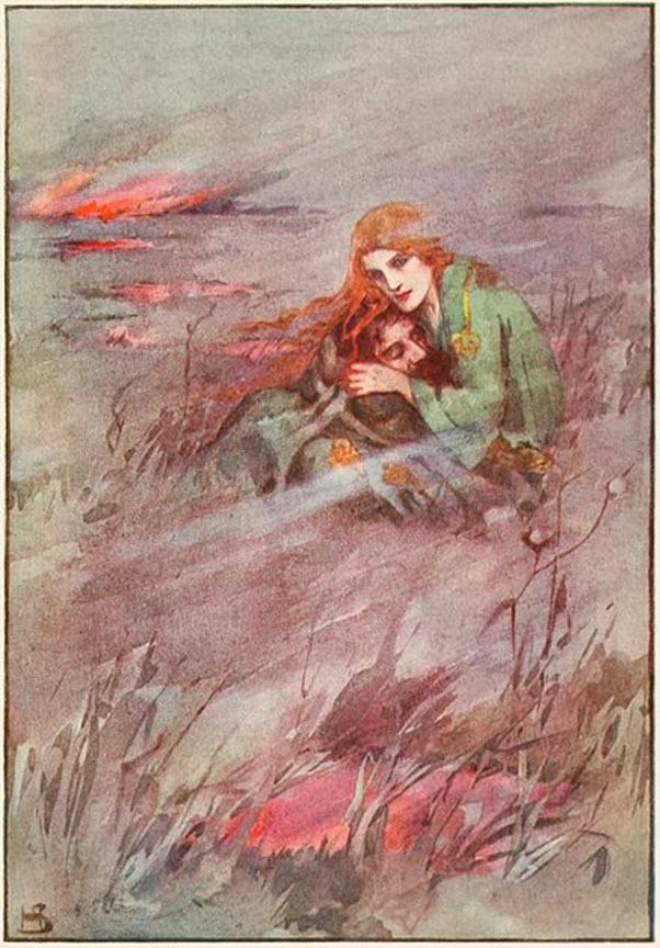 Deirdrê Myth by Helen Stratton 1915, Wikipedia