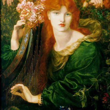 La Ghirlandata (1873) modelled by Alexa Wilding, by Dante Gabriel Rossetti