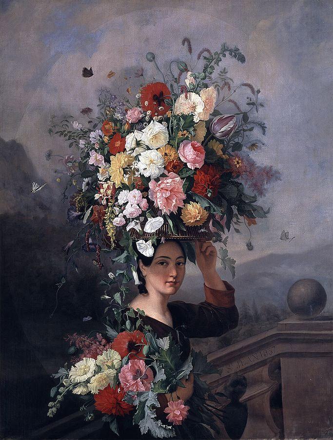 La Jardiniere by Simon Saint-Jean 1837 wikipedia