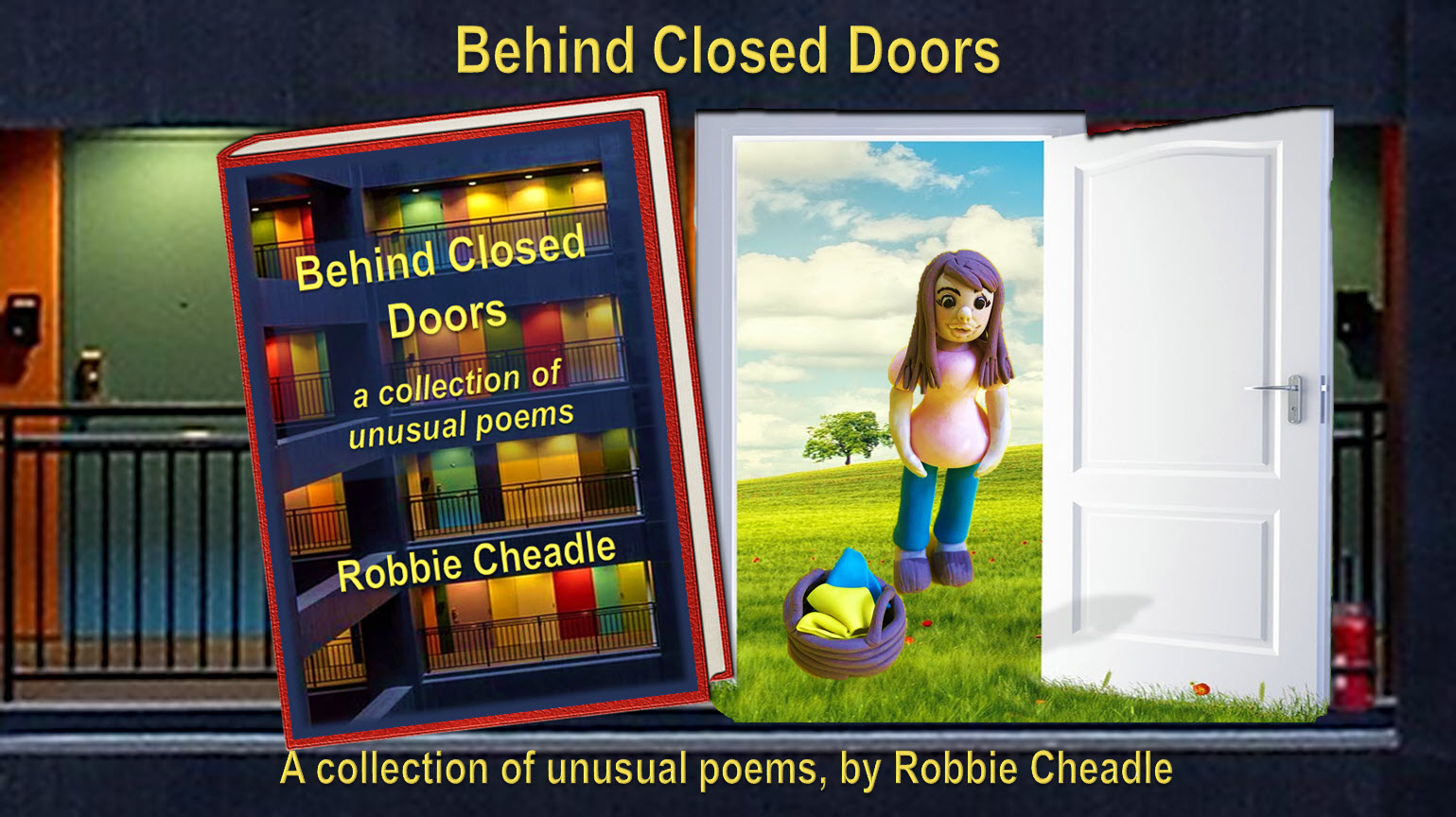 Behind Closed Doors by Robbie Cheadle. Promo image & book cover by Teagan