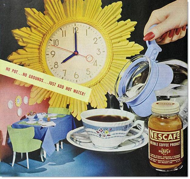 Nescafe Instant Coffee ad 1948 Wikimedia