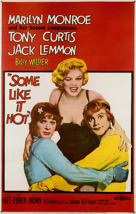 Some Like It Hot Monroe Curtis Lemon poster 1959 Wikipedia