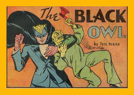 Black Owl comic 1940s Wikipedia (altered image)