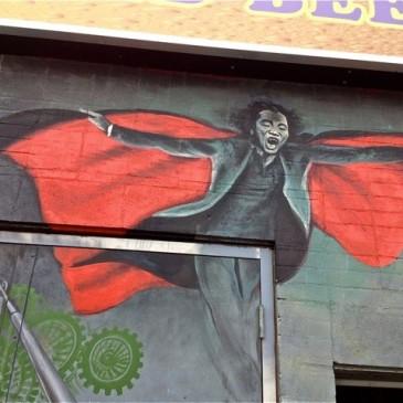 Vampire red cape mural photo 2016 Resa McConaghy